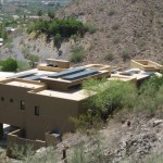 The roof of this home has an acrylic elastomeric coating on it by Frey Roofing in Arizona.